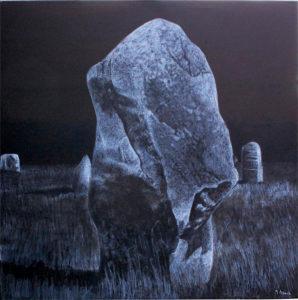 1. Pierres - Carnac 100 x 100 cm