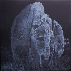 2. Pierres - Carnac 100 x 100 cm