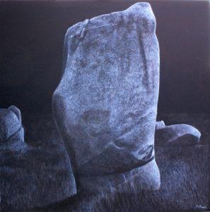 3. Pierres - Carnac 100 x 100 cm