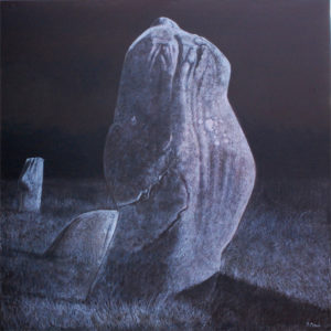 4. Pierres - Carnac 100 x 100 cm